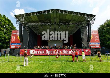 Klassik Open Air, la pratique, l'Orchestre symphonique de Nuremberg, stade, Luidpoldhain, motifs de Nuremberg, Nuremberg, Banque D'Images
