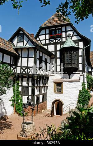 Dans le bailliage de la ward intérieur Château de Wartburg à Eisenach, en Thuringe, Allemagne, Europe Banque D'Images