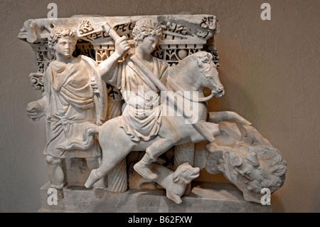 Cavalier guerrier grec Grèce byzantine Banque D'Images