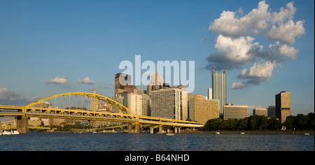 Skyline de Pittsburgh en Pennsylvanie Banque D'Images
