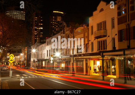 George Street at Night The Rocks Sydney New South Wales Australie Banque D'Images
