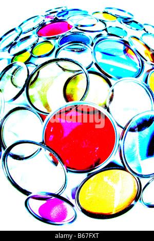 Gros plan à haut contraste de couleurs filtres photo Banque D'Images