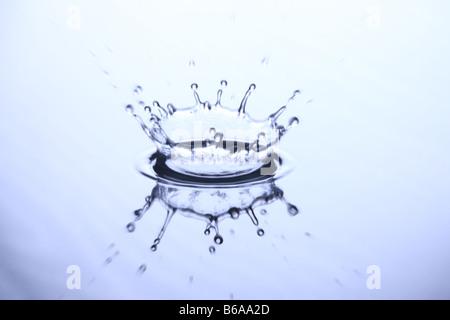Splash de récupération d'eau Banque D'Images