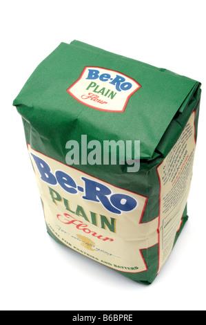 Sac de farine blanche ordinaire être ro Banque D'Images