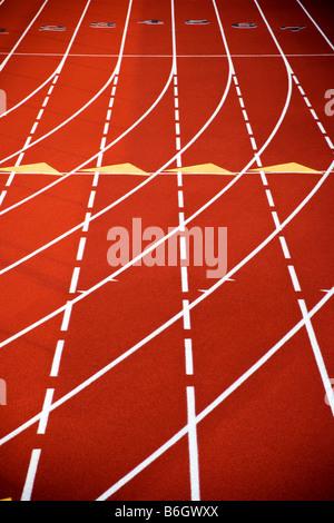Close up de surface de piste synthétique au 2e Festival annuel Distance PA Banque D'Images