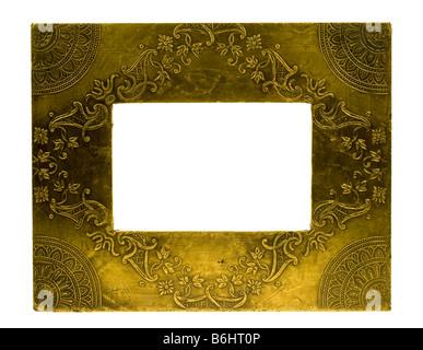 Cadre photo métal isolé sur fond blanc