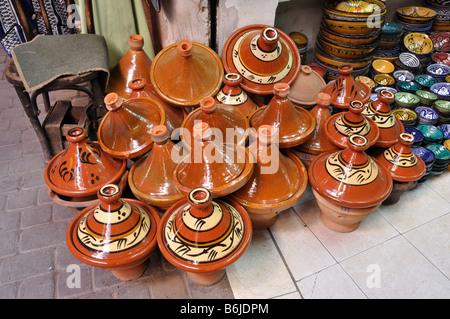 La céramique à vendre à Marrakech, Maroc Banque D'Images