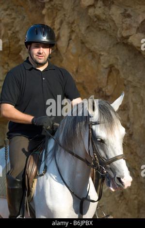L'homme sur son cheval Beyrouth Liban Moyen-Orient Asie Banque D'Images