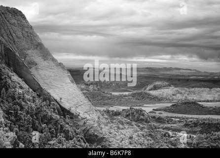 L'ange gardien sur la montagne Zion National Park Banque D'Images