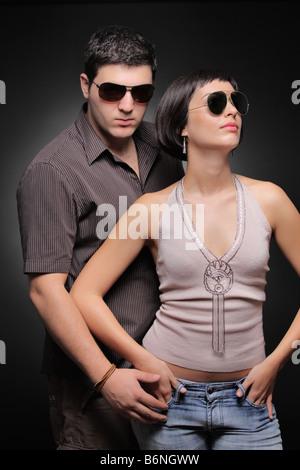 Couple à la mode Banque D'Images