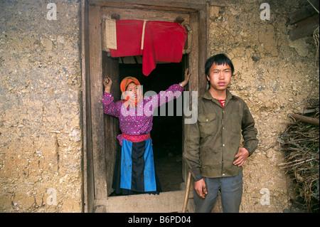 Vietnam, Ha Giang province, h'mong de minorités ethniques Banque D'Images