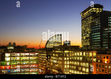 Photo de nuit de ville Londres Angleterre Banque D'Images