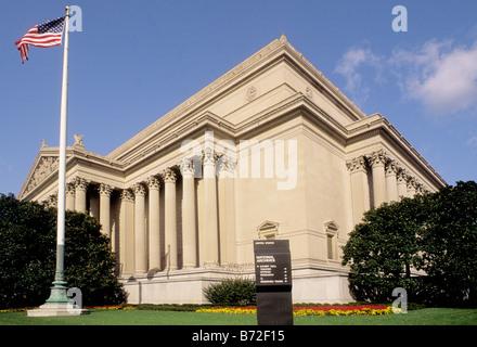 USA Washington DC L'édifice des Archives nationales où la déclaration des droits et la Déclaration d'indépendance sont conservés.