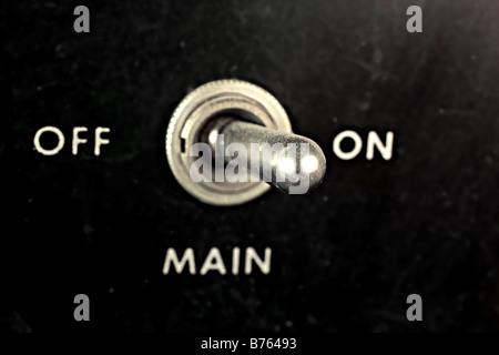 Interrupteur marche-arrêt Banque D'Images