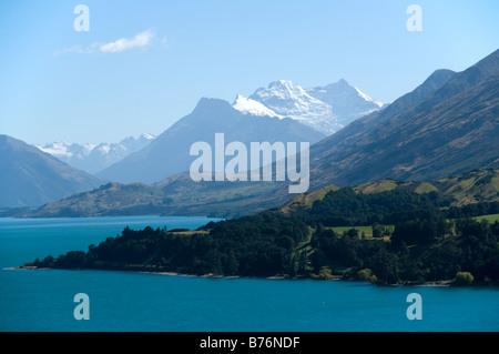 Mount Earnslaw (Pikirakatahi) du lac Wakatipu, près de Glenorchy, île du Sud, Nouvelle-Zélande Banque D'Images