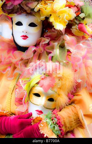 Portrait de beaux masques à Venise Italie Banque D'Images
