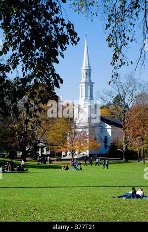 Battle green, Lexington, Massachusetts, USA Site du premiers coups de la révolution américaine