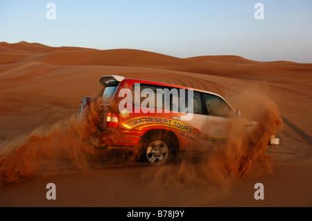 Jeep safari à Dubaï, Émirats arabes unis, ÉMIRATS ARABES UNIS, Moyen Orient Banque D'Images