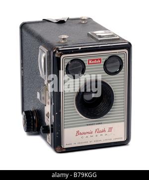 Appareil photo Kodak Brownie Flash Banque D'Images