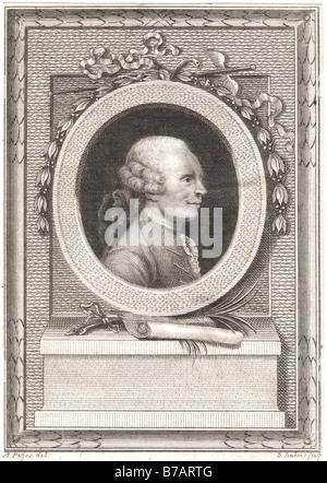 Jean Le Rond d'Alembert (16 novembre 1717 - Le 29 octobre 1783) était un mathématicien français, scientifique américain, Banque D'Images