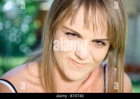 Portrait d'Adolescente Banque D'Images