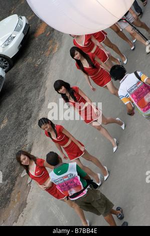 Singtel Singapour F1 grid girls Banque D'Images