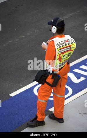 Singapour F1 voie voie des stands prévôt Banque D'Images