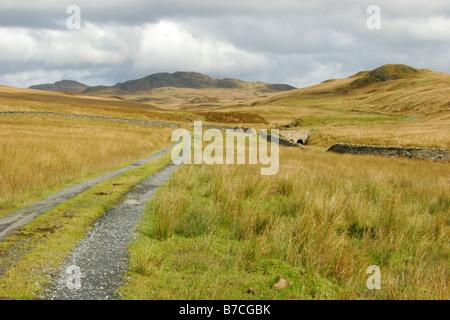 Hills et la lande à la fin de l'unique route prises Octobre Isle of Jura Argyll Scotland UK Banque D'Images