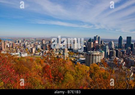 Du point de vue d'horizon à l'Observatoire de le Chalet du Mont Royal Montreal Canada Banque D'Images