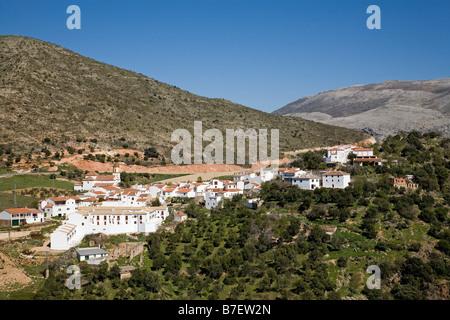 Atajate village blanc de la vallée du Genal Serrania de Ronda malaga andalousie espagne Banque D'Images