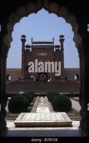 Entrée de Fort Rouge Lahore Pakistan Punjab Banque D'Images