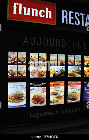 flunch self service restaurant fran ais famille menu banque d 39 images photo stock 20075319 alamy. Black Bedroom Furniture Sets. Home Design Ideas
