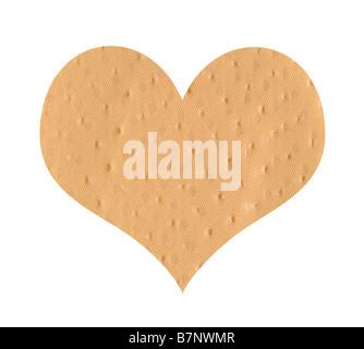 Bandage en forme de coeur Banque D'Images