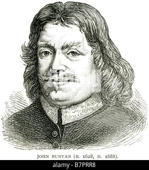 John Bunyan 1628 Anglais 1688 écrivain chrétien prédicateur Pilgrim's Progress Face portrait profile