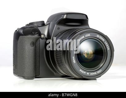 Appareil photo reflex numérique noir single lens reflex Banque D'Images