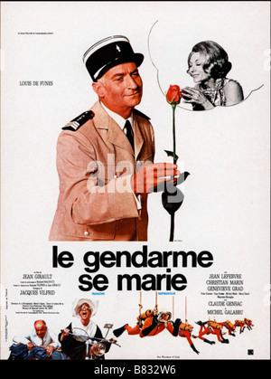 Le gendarme se marie le Gendarme se marie Année: 1968 - France Louis de Funès, Claude Gensac Réalisateur: Jean Banque D'Images