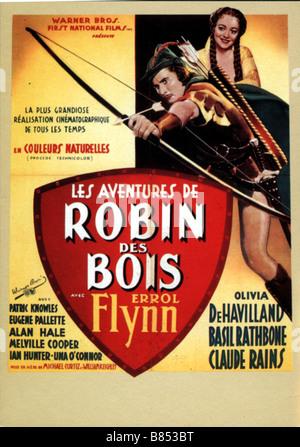 Les aventures de Robin des Bois Année: 1938 - USA Réalisateur: Michael Curtiz, William Keighley Movie poster Banque D'Images