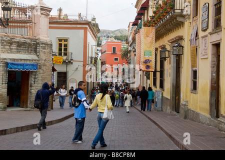 Scène de rue à Guanajuato, Mexique Banque D'Images