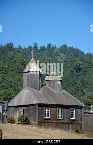 Sainte Trinité historique Chapelle Saint-Nicolas de Fort Ross, dans le Comté de Sonoma, en Californie, USA. Banque D'Images