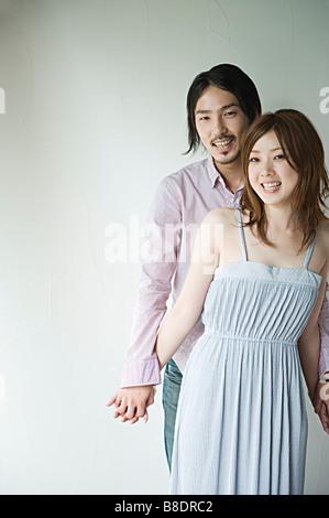 Jeune couple japonais Banque D'Images
