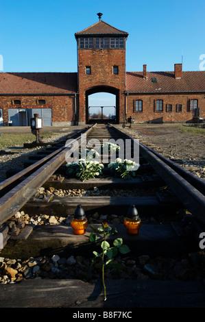 Auschwitz II Birkenau Pologne Banque D'Images
