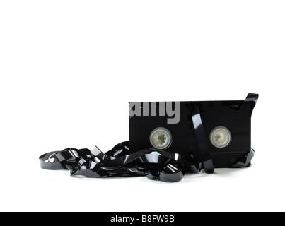 Cassette vidéo VHS détruit Banque D'Images