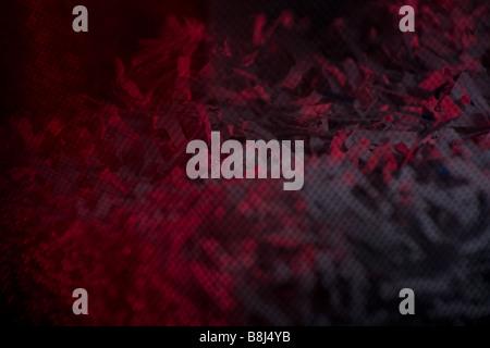 Moody atmosphérique libre éclairé avec lumière rouge d'une déchiqueteuse personnelle pour mettre en évidence le Banque D'Images