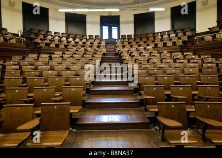 Intérieur d'une salle de conférences à l'université de Columbia, Harlem Banque D'Images
