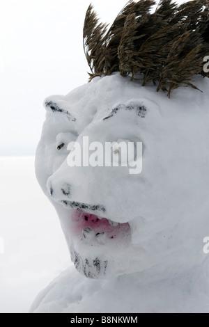 L'ogre bonhomme effrayant visage. Banque D'Images
