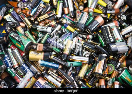 Les batteries, close-up, full frame Banque D'Images