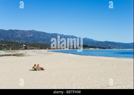 ... California coast Central  Vue de la plage de Stearns Wharf, Santa  Barbara, Californie, USA Banque D f94202337c35