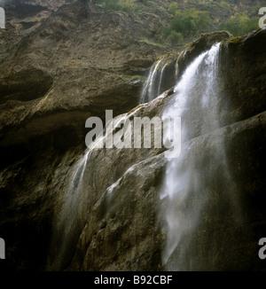 Les cascades de la gorge Chegem dans la réserve naturelle de Kabarda Balkarie Caucase du Nord Banque D'Images