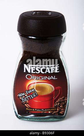 Café Nescafé original jar Banque D'Images