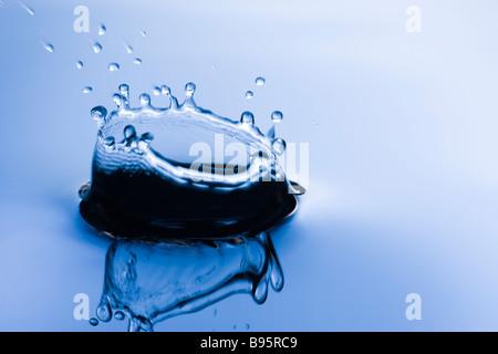 Splash dans l'eau Banque D'Images